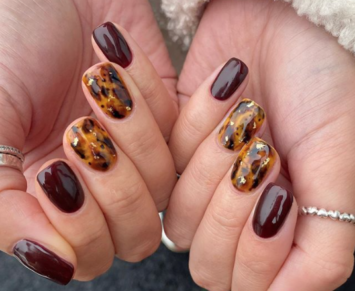 autumn nail art