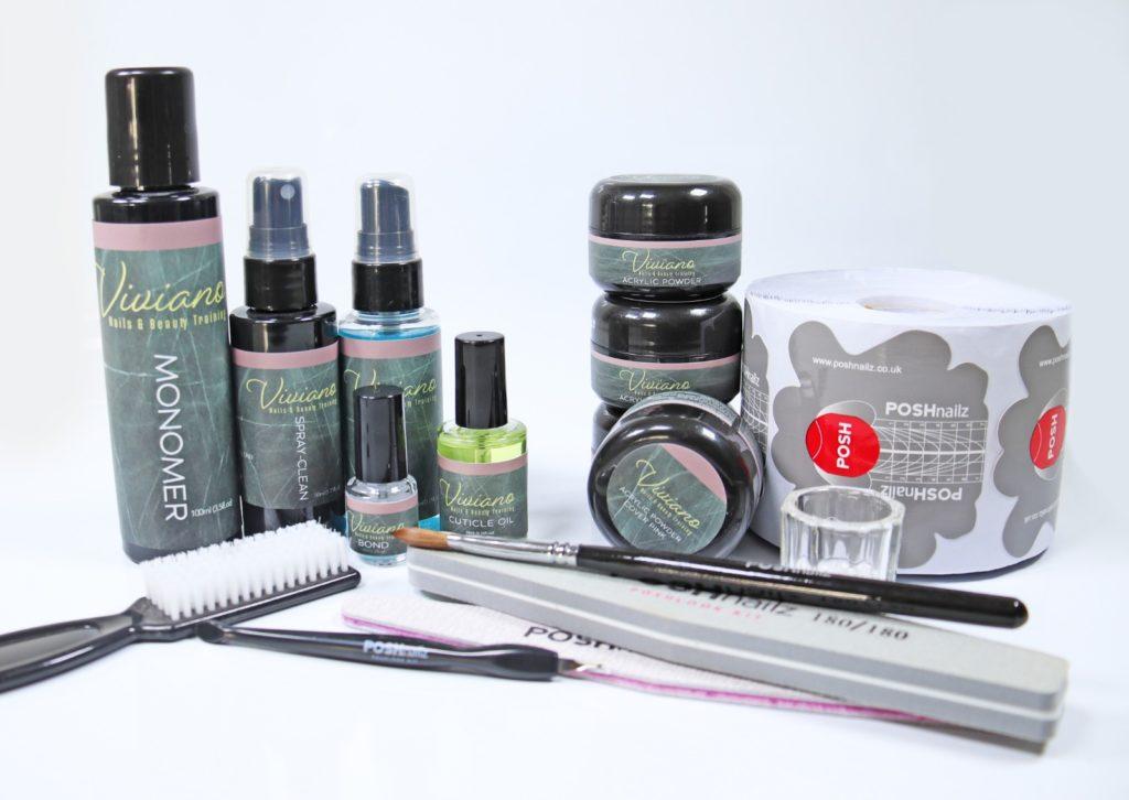 branded acrylic kit demonstrating white label cosmetics